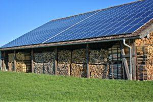 Photovoltaikzellen am Dach